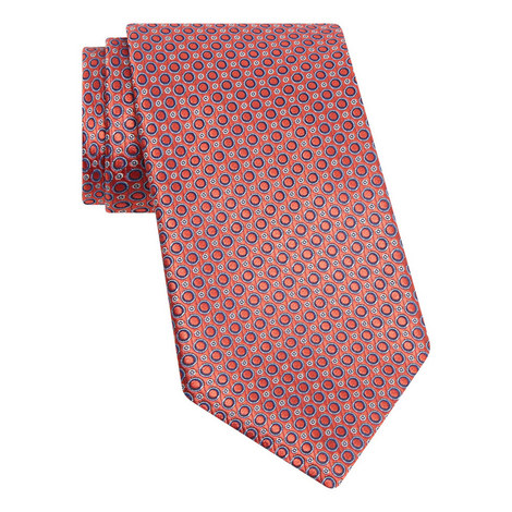 Woven Circle Pattern Tie, ${color}