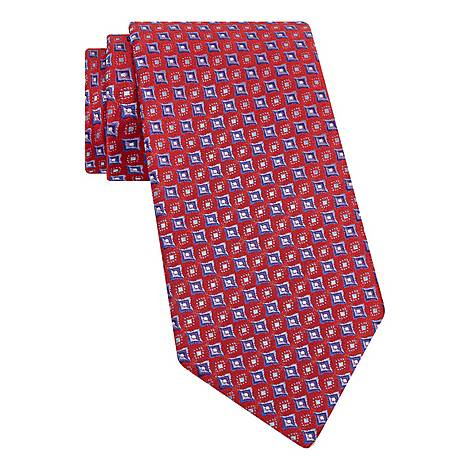 Woven Square Silk Tie, ${color}
