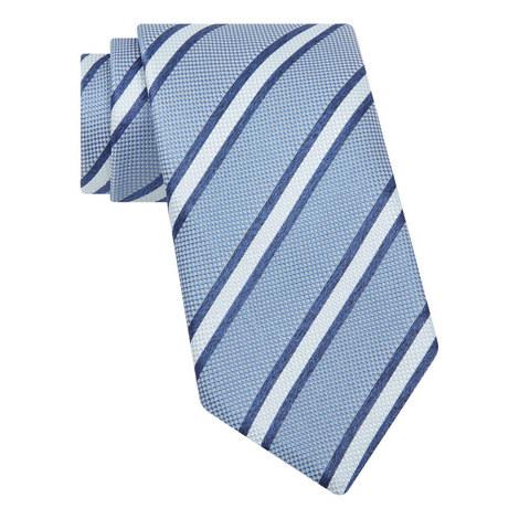 Woven Stripe Silk Tie, ${color}