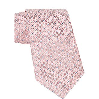 Geometric Circle Print Tie