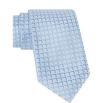 Geometric Floral Tie