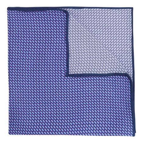 Micro Geometric Print Pocket Square , ${color}
