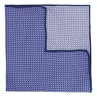 Micro Geometric Print Pocket Square