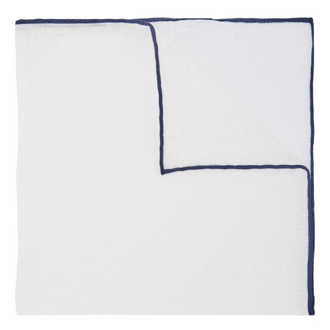 Shoestring Border Linen Pocket Square, ${color}