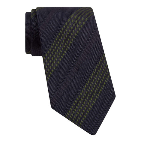 Contrast Striped Tie, ${color}