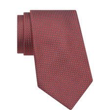 Dot Pattern Textured Tie