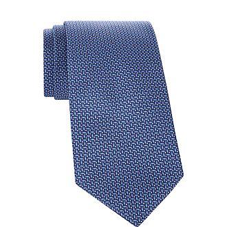 Geometric Diamond Print Tie