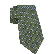 Diagonal Geometric Silk Tie