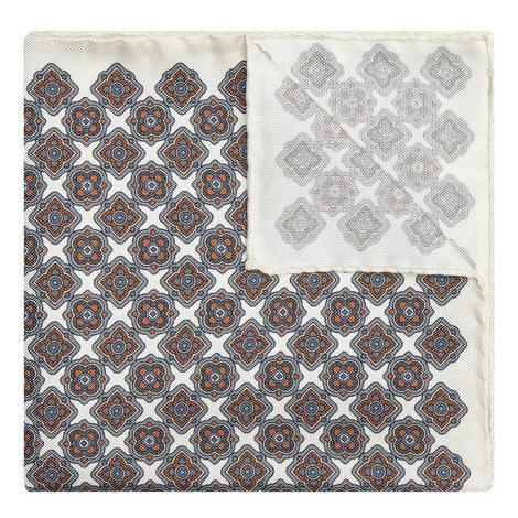 Floral Geometric Pocket Square, ${color}