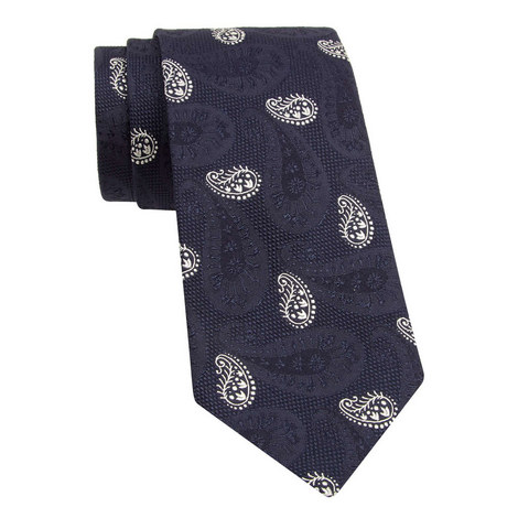 Embroidered Paisley Tie, ${color}