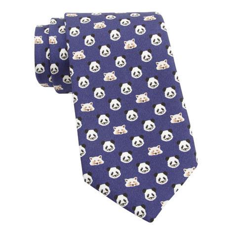 Panda and Fox Print Tie, ${color}