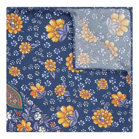 Large Floral Print Pocket Square, ${color}
