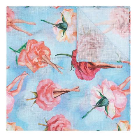 Surreal Floral Print Pocket Square, ${color}