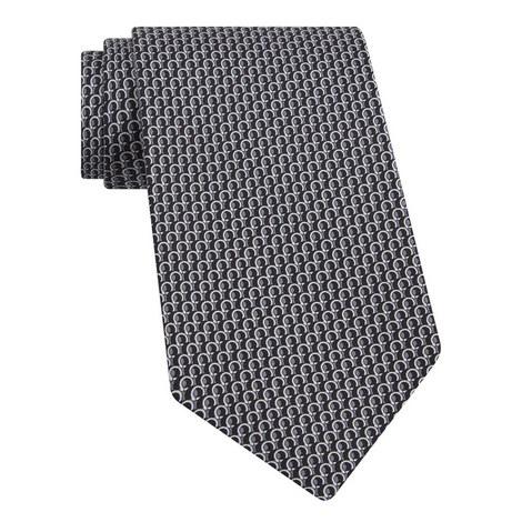 Double Gancini Print Tie, ${color}