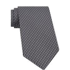 Double Gancini Print Tie