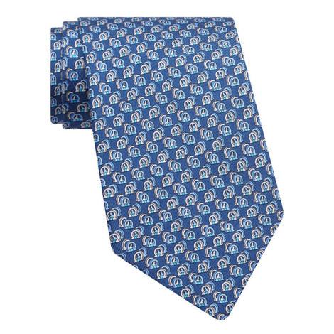 Gancini Shadow Print Tie, ${color}