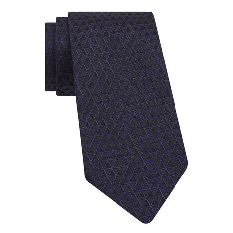 Triangle Embroidered Tie, ${color}