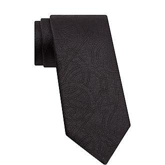 Gancini Patterned Silk Tie
