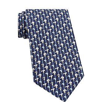 Gentlemen Print Silk Tie