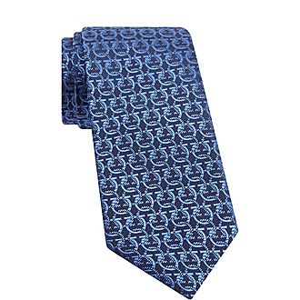 Jacquard Gancini Silk Tie