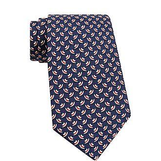 Hat Print Silk Tie