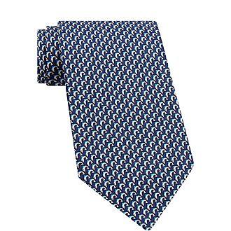 Dolphin Silk Tie