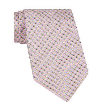Parrot Print Tie