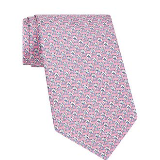 Waving Cat Print Tie