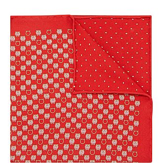 Double Face Gancini And Falcon Pocket Square