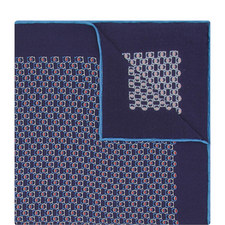 Interlocking Gancini Pocket Square