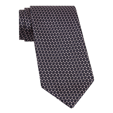 Star Pattern Silk Tie , ${color}