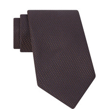 Diagonal Pattern Textured Tie