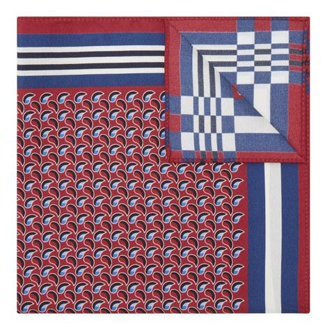 Paisley & Stripe Pattern Pocket Square, ${color}