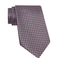 Micro-Geometric Pattern Silk Tie