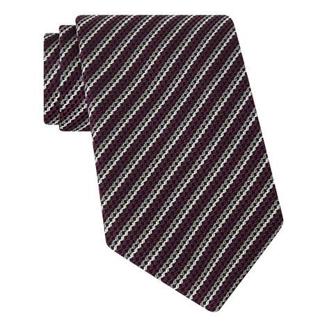 Diagonal Contrast Stripe Tie, ${color}
