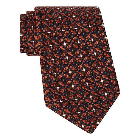 Floral Textured Pattern Tie, ${color}