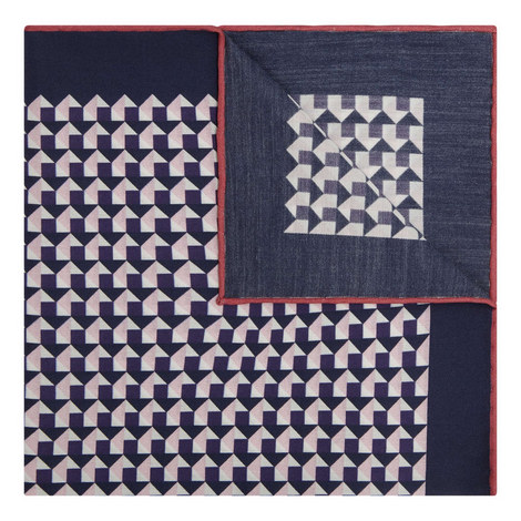 Square Abstract Print Pocket Square, ${color}