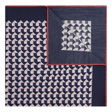 Square Abstract Print Pocket Square