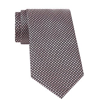 Geometric Box Print Tie