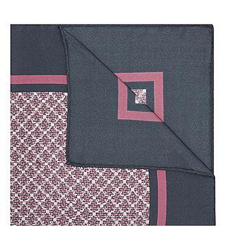 Geometric Diamond Pattern Pocket Square