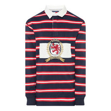 Crest Stripe Rugby Shirt