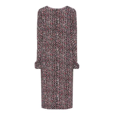 Contemporary Print Dress, ${color}