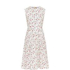 Floral Print Poplin Dress