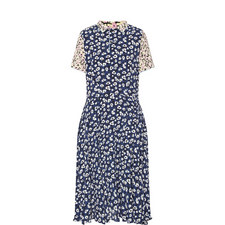 Floral Print Collared Dress