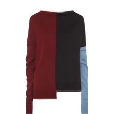 Long Sleeve Colour-Block Sweater