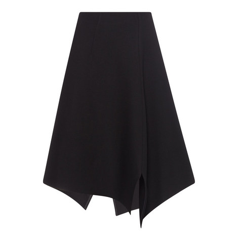 Asymmetrical Wool Skirt, ${color}
