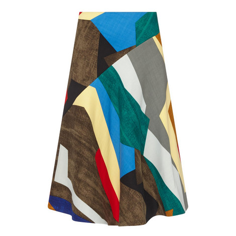 Gomau Patterned Midi Skirt , ${color}