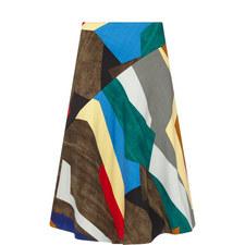 Gomau Patterned Midi Skirt