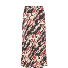 Marron Printed Skirt