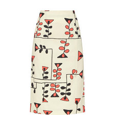 Painted Canvas Skirt